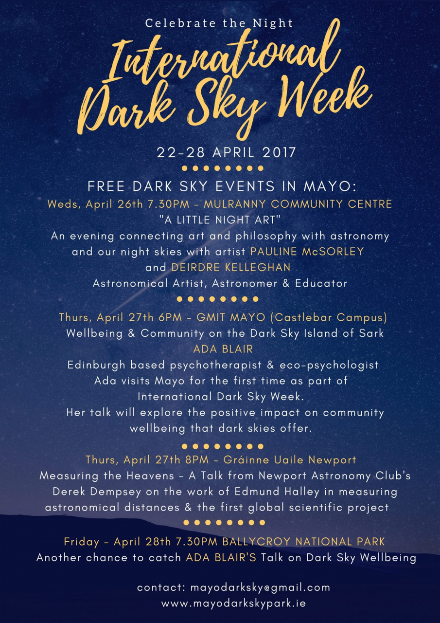 International Dark Sky Week 22-28th April 2017