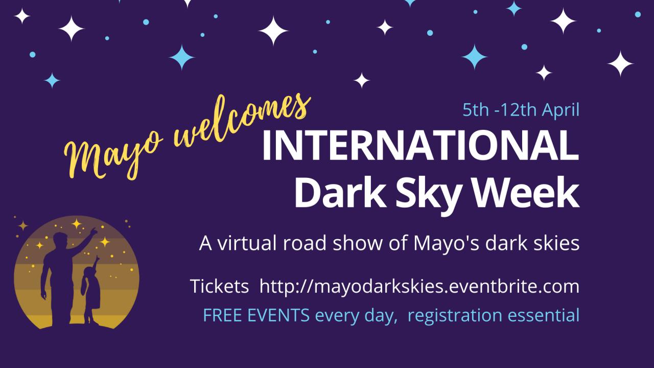 International Dark Sky Week 2021 - A virtual roadshow of Mayo