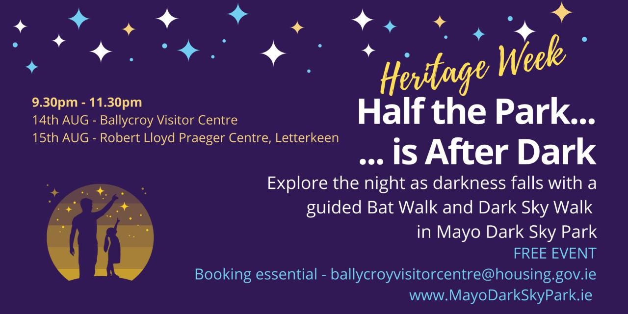 Half the Park is After Dark - Heritage Week event