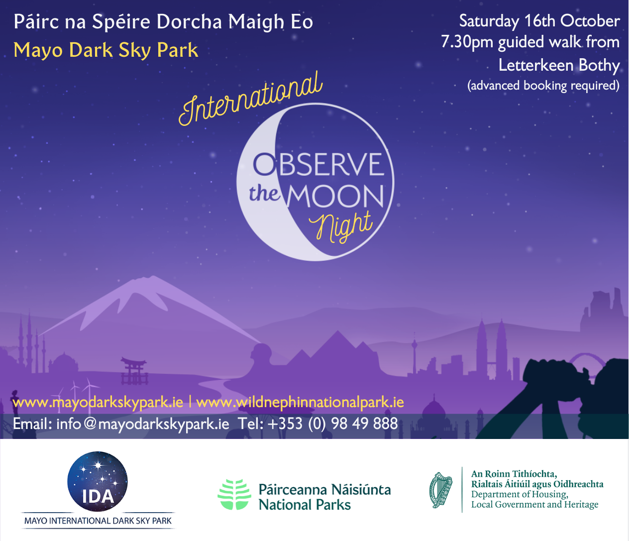 International Observe the Moon Night - 16th October (Cancelled due to rain)